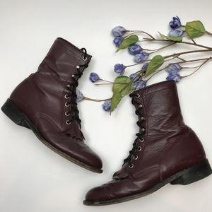 Justin Vintage Rober Hiram Kiltie Lace Up Boots